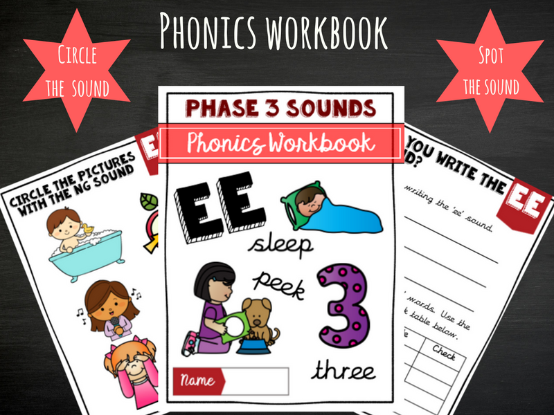 'ee' Phonics Workbook