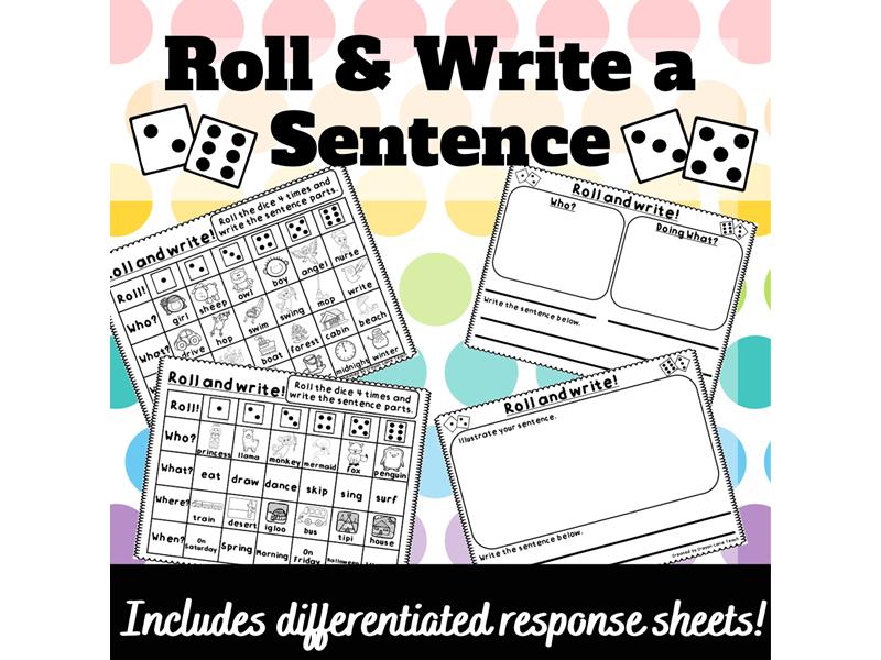Sentence Building Writing Sentences Activity KS1 Year 1 Year 2