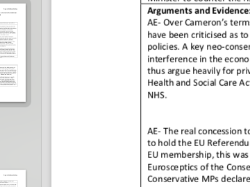 """EDEXCEL A level Politics """"Evaluate how far the modern Conservatives conform to tradition"""" essay plan"""
