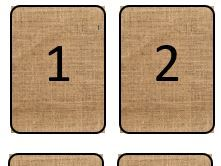 Hessian Natural Number Cards