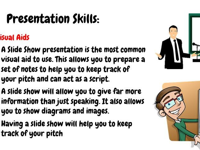 BTEC Tech in Enterprise - Component 2 - Pitch - Presentation Skills