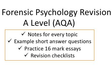 Forensic Psychology Ultimate Bundle | A Level AQA New Spec