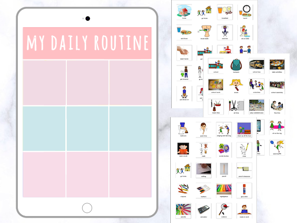 Pastel Daily Visual Schedule [iPad Theme]