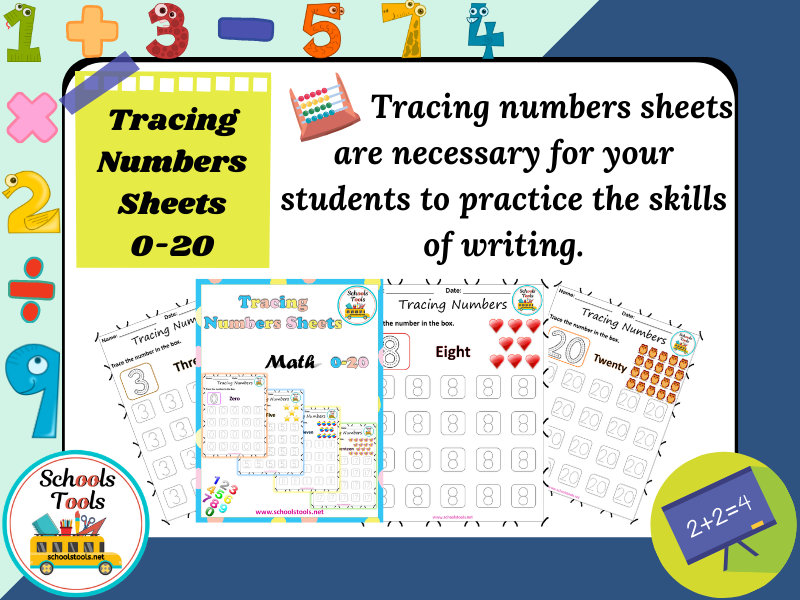 Tracing Numbers Sheets 0-20