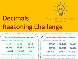 Decimals Reasoning Challenge