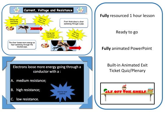 Electricity-Current, Voltage and Resistance in Circuits - KS3 Animated Powerpoint and Resources