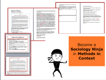*FULL LESSON* Become a Sociology Ninja in Methods in Context. A-Level Sociology Education