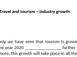 Starter - Travel and Tourism Industry Growth