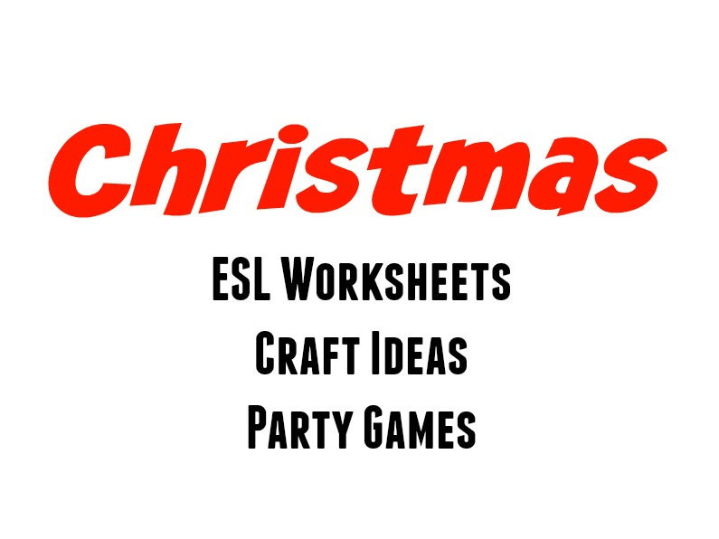 Christmas Craft Activities and ESL Worksheets for Kids