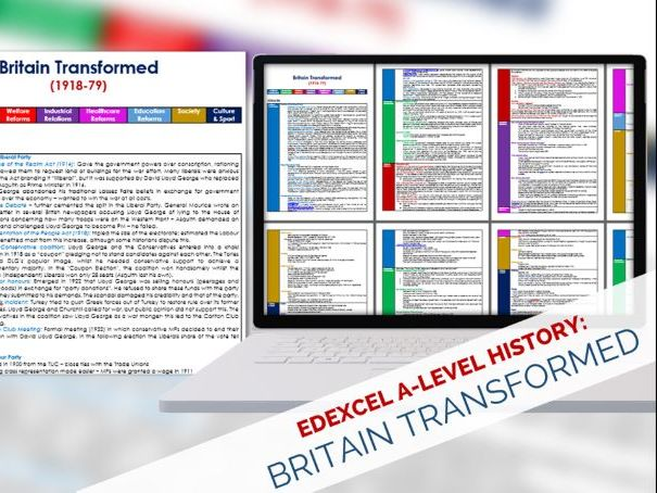 Edexcel A-Level History: Britain Transformed (1918-79)