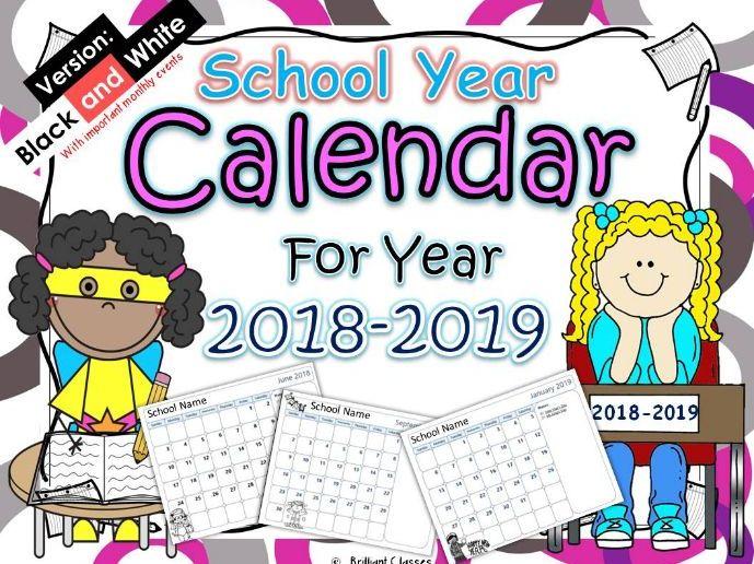 Calendar 2018-2019-Just Go and Print!!