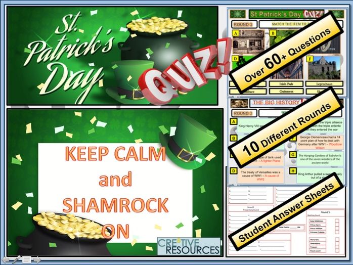 St Paddy's Day Quiz: St Patrick's Day
