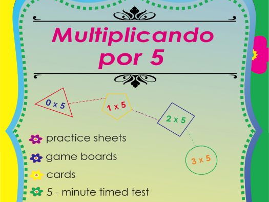 Multiplicando Por 5 - Spanish Multiplication Math Games and Lesson Plans