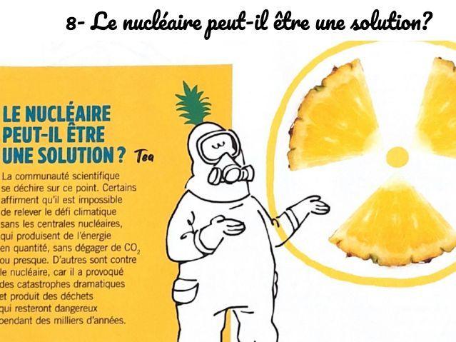 Environment Reading:  8- Le nucléaire peut-il être une solution?