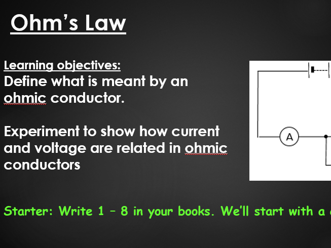 Ohm's law practical