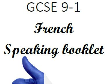 NEW GCSE 9-1 French speaking booklet (EDEXCEL)