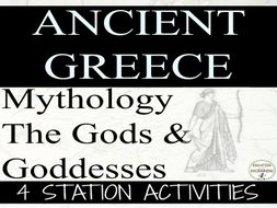 Greek Mythology Station Activities for Ancient Greece Unit