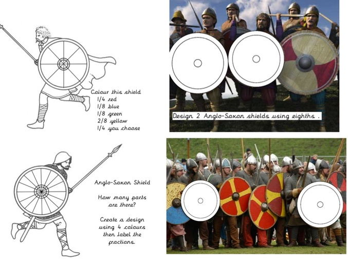 Anglo-Saxon Shield Fractions Activity