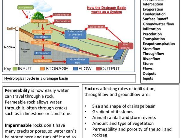 Water Cycle Revision Sheet - GCSE Eduqas B