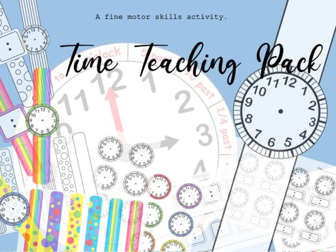 Time Teaching Clock, Worksheets and Watch-Making Activity