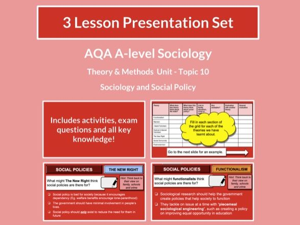 Sociology and Social Policy- AQA A-level Sociology - Theory and Methods - Topic 10