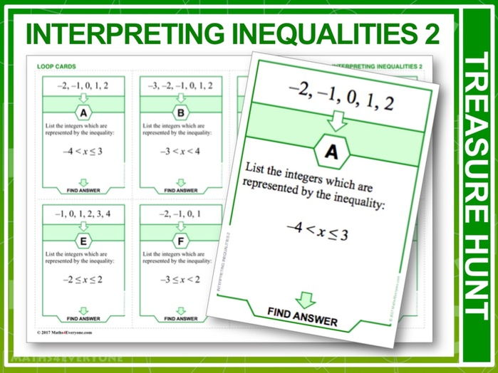 Understanding Inequalities 2 (Treasure Hunt)
