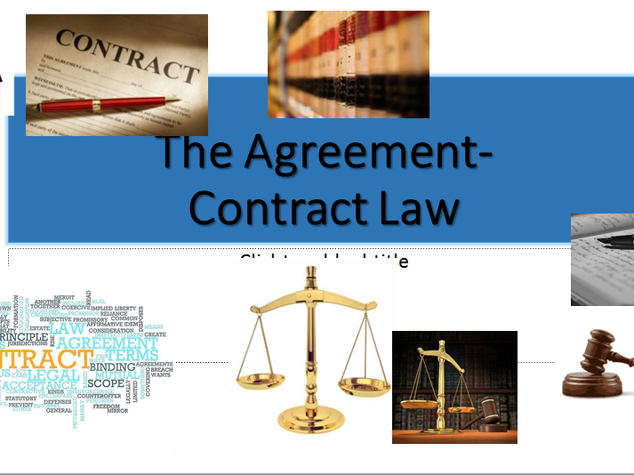 Contract Law-A Level Law (OCR NEW SPEC)- The Agreement (offer&acceptance) -Lesson & Activities