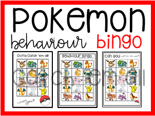 Pokemon Behaviour + Classroom Management Bingo