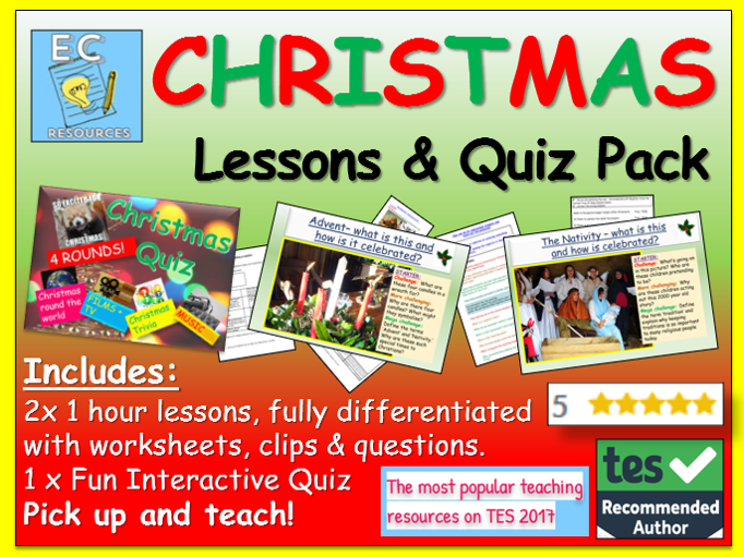 Christmas: Lessons + Quiz Pack