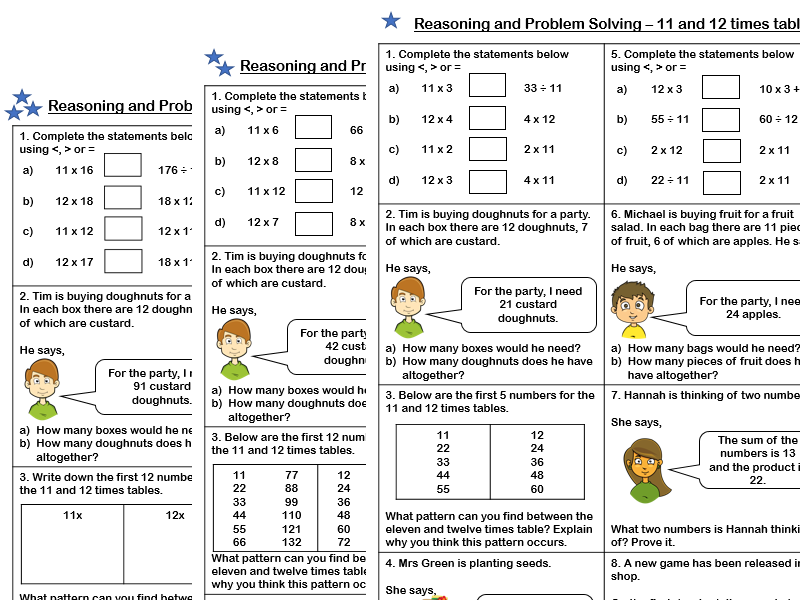 White Rose Maths - Year 4 - Spring Block 1 - 11 and 12 times table (Problem Solving and Reasoning)
