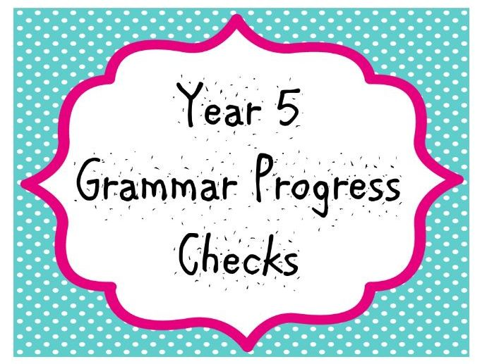 Year 5 Grammar Progress Checks