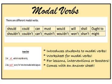 Grammar: Modal Verbs (KS2)