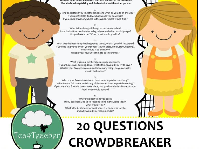 20 Questions – Crowdbreaker/ Get To Know You Activity