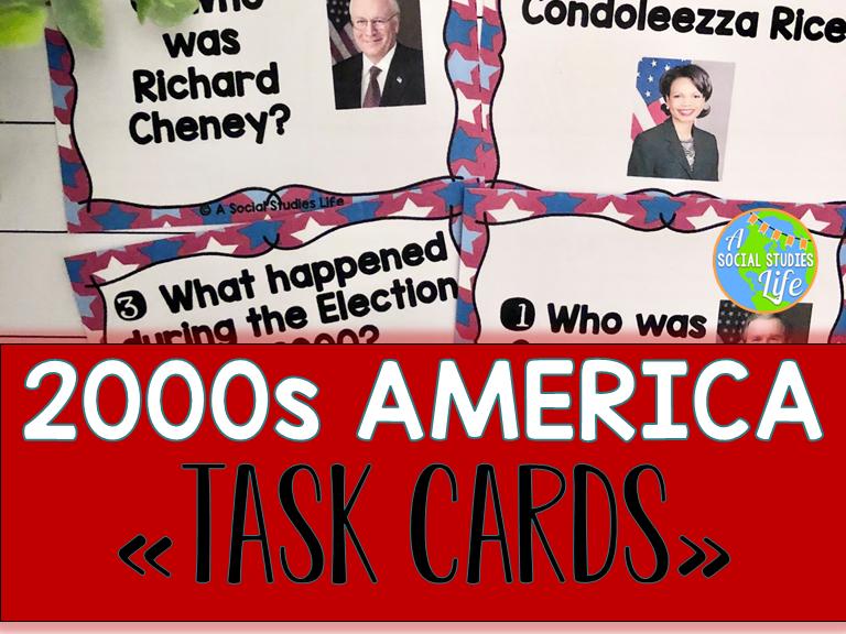 2000s America Task Cards