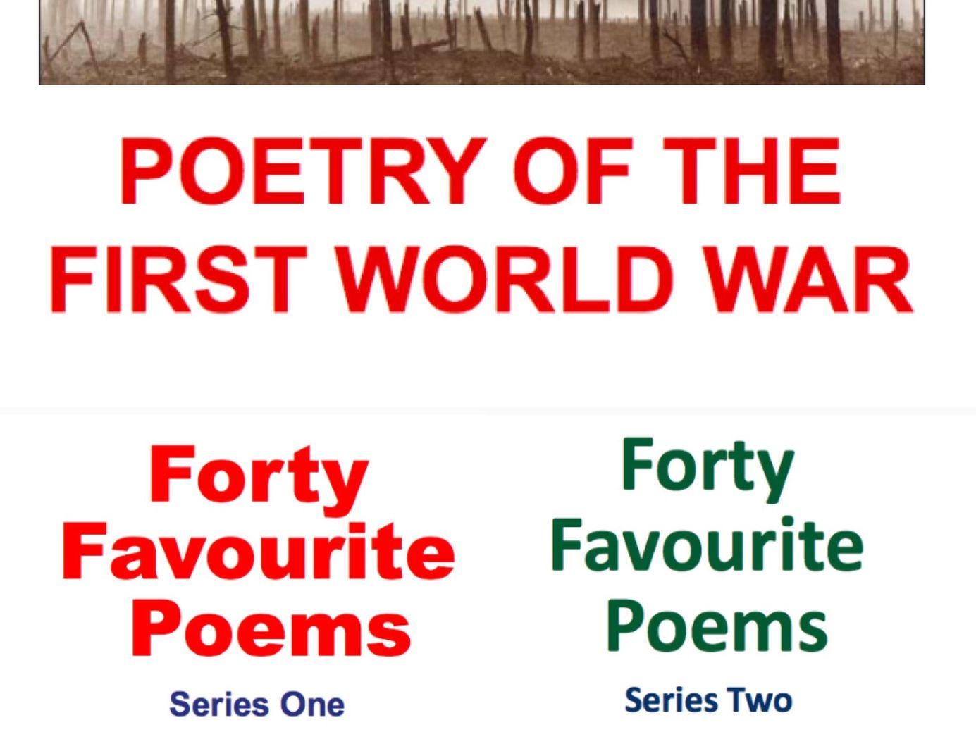 KS3 and KS4 Poetry Bundle: First World War, Forty Favourite Poems Series One and Two Full Schemes of Work