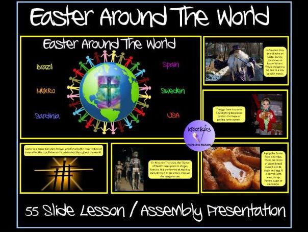 Easter Around The World Presentation Set 2 - Brazil, Mexico, Sardinia, Spain, Sweden, USA - 55 Slide