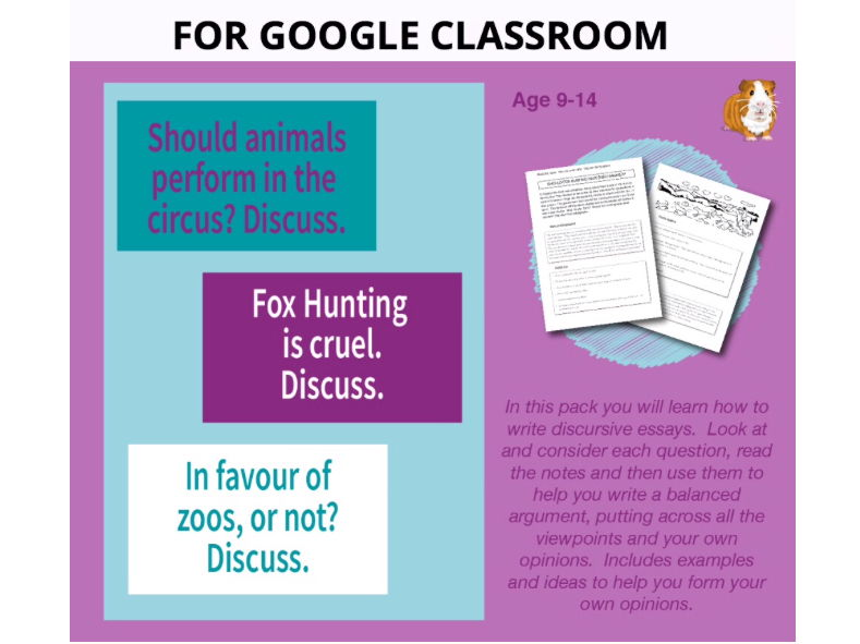Lots Of Discursive Essays To Write: Digital Google Classroom Resource (9-14 years)