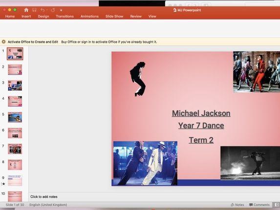 Michael Jackson Dance SOW