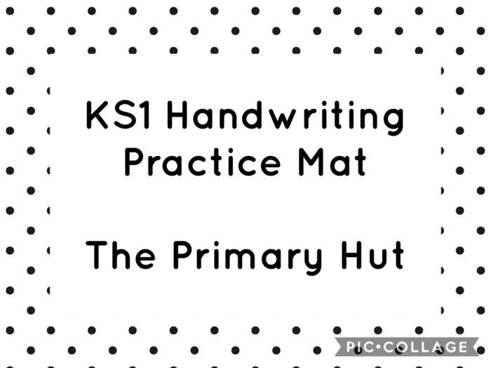 KS1 Handwriting Practise Mat