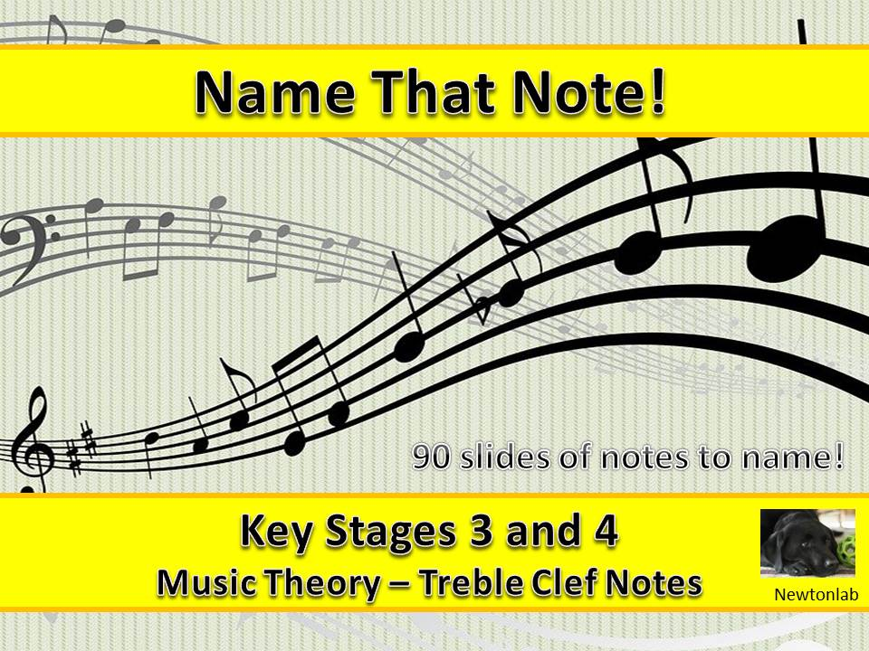 Name That Note! - Treble Clef - Key Stages 3 and 4