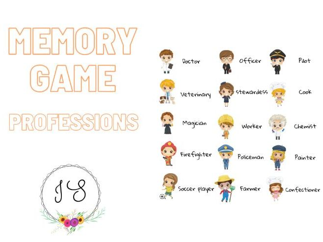 Memory game - Professions (card game)