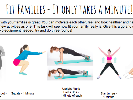Fit Families - It Only Takes A Minute