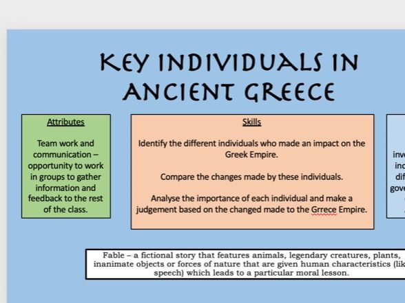 Key Individuals in Ancient Greece