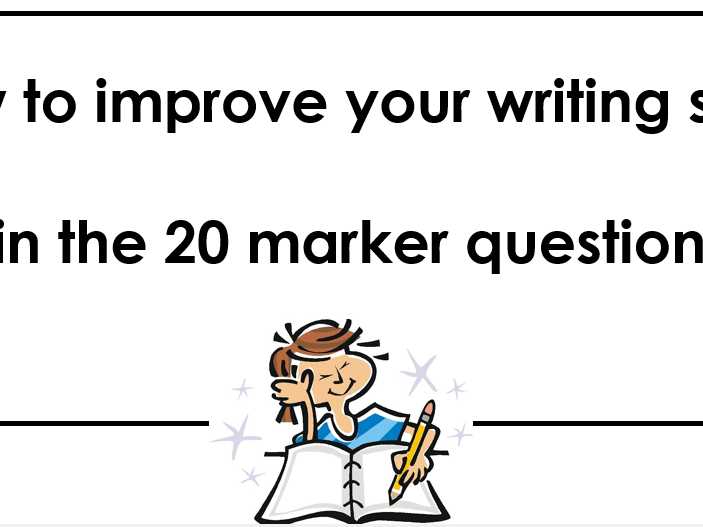 Edexcel French GCSE : Improving your marks in the 20 marker writing question