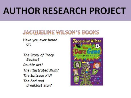 Author Research Project: Jacqueline Wilson