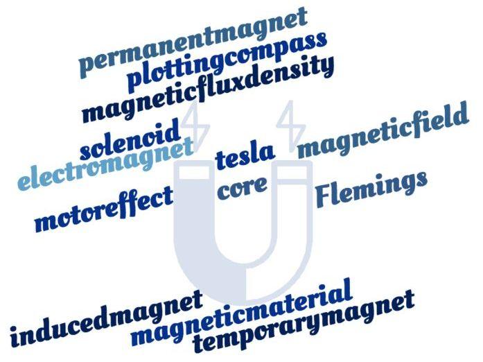 Magnets, Electromagnetism & Magnetic Forces Crossword - EDEXCEL GCSE (9-1) Combined Science Paper 6