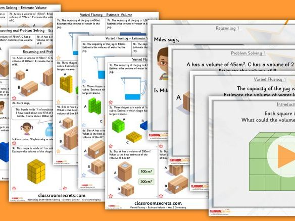 Year 5 Estimte Volume Summer Block 5 Step 3 Lesson Pack