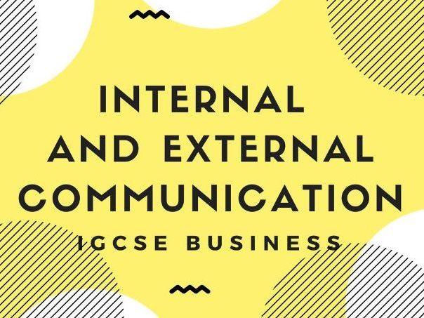 Internal and external communication