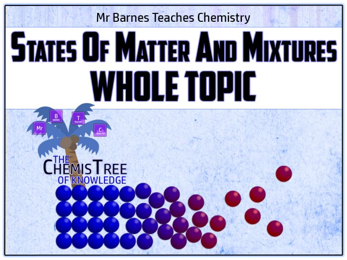GCSE Chemistry 9-1: States of Matter and Mixtures PowerPoint / Unit of Work