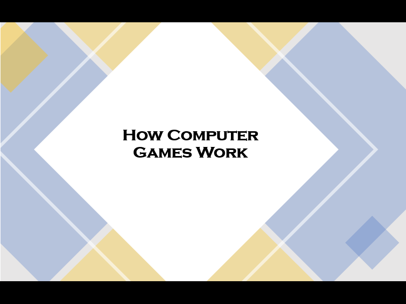 KS1 - What are Computer Games
